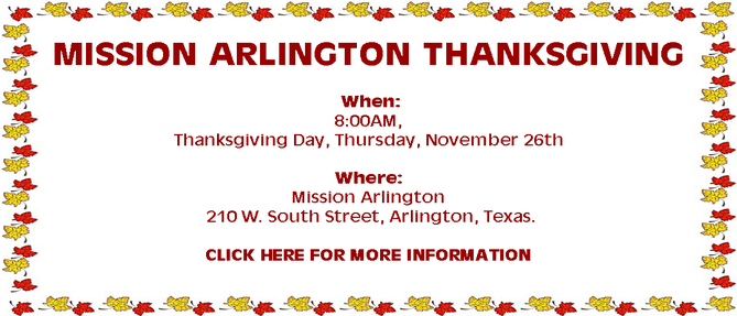 Mission Arlington Thanksgiving