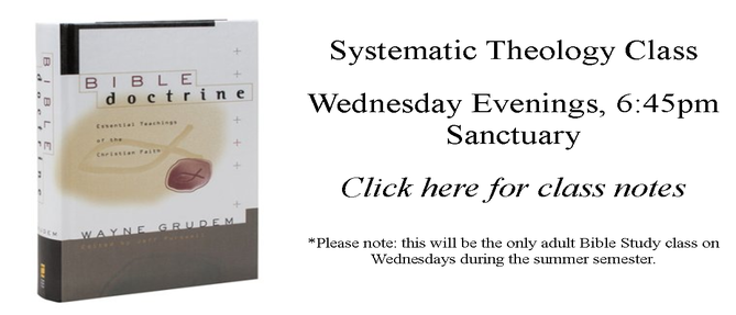 Summer Systematic Theology Class